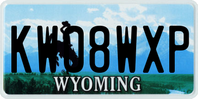 WY license plate KW08WXP